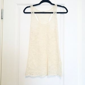 Aritzia Wilfred Sheer Lace Tank Top